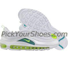 Nike Womens Air Max 97 (white / volt / turbo green) 605173-100 - $129.99