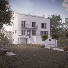 Moller House by Adolf Loos on Behance Shelf Furniture, Art Studios, Modern Architecture, Villa, Exterior, Contemporary, Mansions, House Styles, Building