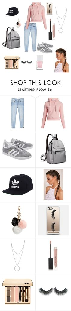 """Untitled #88"" by mooeystache on Polyvore featuring MANGO, Vetements, adidas Originals, adidas, GUESS, Casetify, Botkier, Burberry and The Hand & Foot Spa"