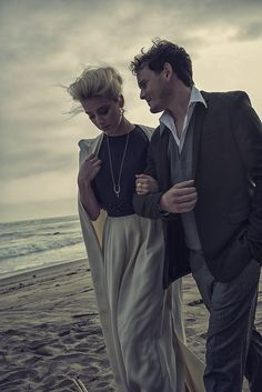 Amber Heard & Anton Yelchin photoshoot with Kurt Iswarienko for Interview Russia