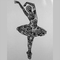 zentangle ballerina template - Google'da Ara