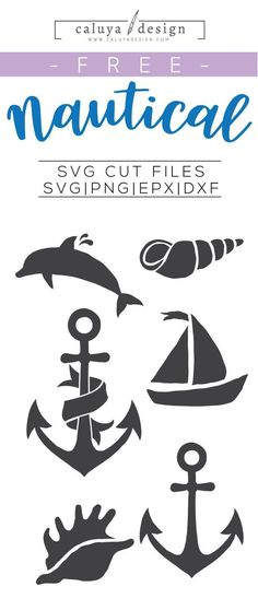 Free Nautical SVG, PNG, EPS & DXF by Caluya Design. Compatible with Cameo Silhouette, Cricut and other major cutting machines!Perfect for your DIY projects, Giveaway and personalized gift. Plotter Silhouette Cameo, Silhouette Cameo Projects, Silhouette Design, Anchor Silhouette, Dolphin Silhouette, Boat Silhouette, Silhouette Clip Art, Silhouette Images, Silhouette Files