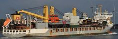 SAL's WILMA arriving in Rotterdam loaded with several Damen (Far East) built units