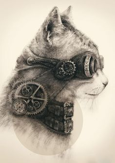 The most famous steampunk cat Google+