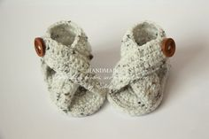 Crochet baby sandals, baby gladiator sandals, booties, shoes, baby boy sandals, baby girl, summer, wooden buttons, READY TO SHIP, 3-6 months