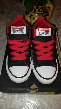 78a15f366a6c64 Converse Slip On Navy Vintage Look Size 13 Boys Youth.