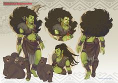 """Female orc bread - """"/tg/ - Traditional Games"""" is imageboard for discussing traditional gaming, such as board games and tabletop RPGs. Female Character Design, Character Design Inspiration, Character Concept, Character Art, Dungeons And Dragons Characters, D D Characters, Fantasy Characters, Fantasy Races, Fantasy Art"""