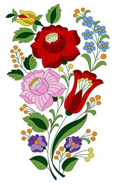Hungarian Embroidery, Folk Embroidery, Hand Embroidery Designs, Embroidery Patterns, Folk Art Flowers, Red Flowers, Flower Art Images, Animal Design, Rose Buds
