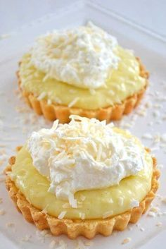 Coconut Cream Tarts. It's like coconut cream pie only mini!