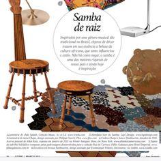 A nossa coleção Rua da Carioca estampa matéria 'samba de raiz' na revista Living.... Adorei! #revestir #revestimentos #ladrilhohidraulico #cementtiles #fashiontiles #cement #ruadacarioca #cartola #sambainspiração #samba
