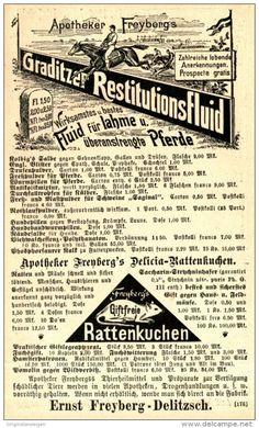 Original-Werbung/ Anzeige 1897 - APOTHEKER FREYBERG'S GRADITZER…