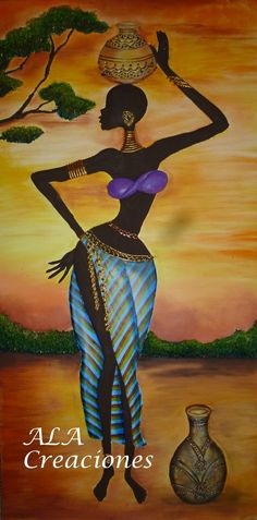 Thoughts & Musings — Good morning 💜 Black Girl Art, Black Women Art, Afrique Art, African Art Paintings, Black Art Pictures, Indian Folk Art, Black Artwork, African American Art, Fabric Painting
