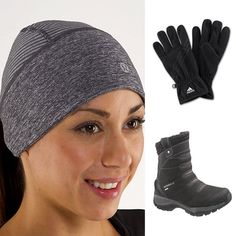 Winter Fitness Accessories: If I decide to start running I'll have to invest in the hat and gloves!