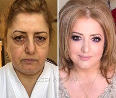 Makeup might not heal wounds but it can help people live with them. And that's exactly what Armenia-born and Moscow-based beauty guru Goar Avetisyan specializes Beauty Makeover, Makeup Makeover, Power Of Makeup, Beauty Makeup, Makeup Art, Over 40 Hairstyles, Makeup For Older Women, Makeup Before And After, High Fashion Makeup