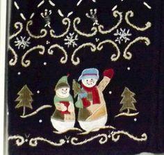 FROSTY THE SNOWMAN Sz M Christmas Zip Up Vest by Erika Snowpeople Snowmen  #Erika