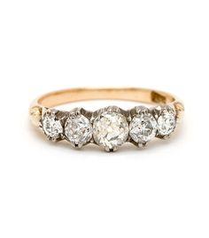 5 Diamond half hoop Ring