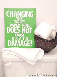 """#DIYart """"Changing the toilet paper roll..."""""""