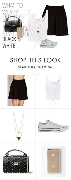 """Sem título #147"" by hellenfmartins ❤ liked on Polyvore featuring Forever 21, Splendid, House of Harlow 1960, Converse and Valentino"