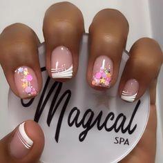 Exotic Nails, Acrylic Gel, Pretty Nail Art, Nail Tutorials, French Nails, Shellac, Nail Arts, Short Nails, Toe Nails