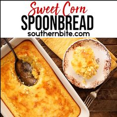 My Sweet Corn Spoon Bread is a perfect side for any dinner table. This recipe is fast and easy, and sure to please even the pickiest of eaters. Also known as corn pudding, corn casserole, corn soufflé or Jiffy corn casserole, the only thing we KNOW is that this is downright delicious!