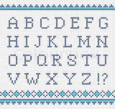 Sticken alphabet