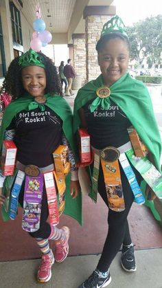 Girl Scout Cookie Superhero Costumes....great idea for cookie booths