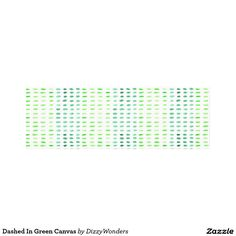 Dashed In Green Canvas Canvas Print - A modern and minimal watercolour pattern , in tones of the Pantone colour of the Year. Fresh and zesty , the lovely way to add a dash of a Greenery to a room.