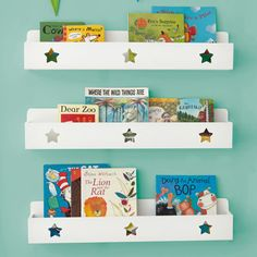 Star Book Ledge - White