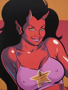 Devil Girl Art by Coop