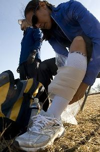 Taping shin splints relieves pain