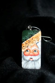 Santa2 Christmas Necklace, Christmas Ornaments To Make, Christmas Makes, Christmas Ideas, Christmas Crafts, Christmas 2017, Domino Crafts, Domino Art, Painted Spoons