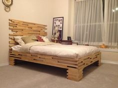 DIY bed frame on legs furniture ideas for bedroom # DIY bed frame on legs furniture ideas for bedroom The post DIY bed frame on legs furniture ideas for bedroom # appeared first on Bett ideen. Ikea Mandal Headboard, Bed Frame And Headboard, Diy Bed Frame, Headboards, Queen Bed Frame Dimensions, King Size Bed Frame, Unique Bed Frames, New Bed Designs, Homemade Beds