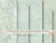 Digital Background Textures cu ok shabby chic by DeannaCartea
