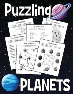 Introduce the names of the planets, their spelling, and a few fun facts about our solar system with this bundle of six engaging puzzles for kids. Classroom Fun, Science Classroom, Puzzles For Kids, Worksheets For Kids, Science Projects, Science Lessons, Names Of The Planets, Spelling Help, Planets Activities