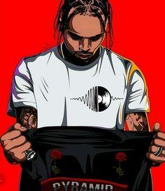 Chris Brown Drawing, Chris Brown Art, Chris Brown Wallpaper, Boys Wallpaper, Dope Cartoon Art, Dope Cartoons, Music Drawings, Girl Drawings, Trap Art