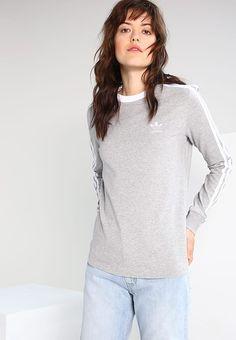 adidas Originals Bluzka z długim rękawem - medium grey heather