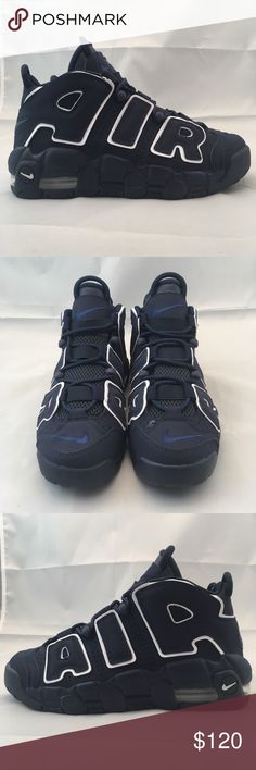 """New! NIKE Air More Uptempo (GS) Boys Size 4.5Y -New Without Box....Small stain in front of right shoe as seen in last picture, see pictures for more details. -Size: US 4.5Y -We will ship all items within one day. -Please visit our Store """"BruhBruhStore"""" we have more great items like this one, we can also bundle items and will be more reasonable with the price...feel free to ask us questions. Thanks! Nike Shoes Sneakers"""