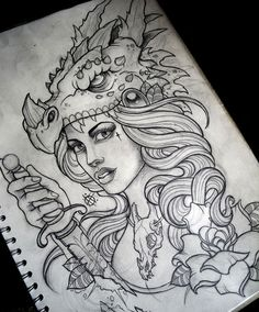 Resultado de imagem para drawing tattoo tumblr