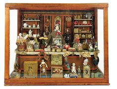 Bread and Roses - Auction - July 26, 2016: Lot #103 Outstanding Mid-19th Century Miniature Store with Housewares, Toys, Dolls and Notions
