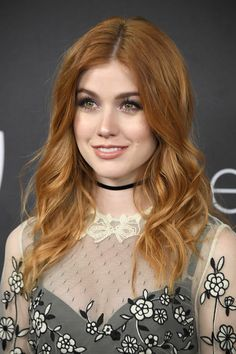 Katherine McNamara attends the Annual Post-Golden Globes Party hosted by Warner Bros. Pictures and InStyle at The Beverly Hilton Hotel on January 2017 in Beverly Hills, California. Beautiful Redhead, Beautiful Celebrities, Beautiful Actresses, Katherine Mcnamara, Redhead Girl, Auburn Hair, Cute Beauty, Pretty People, Redheads