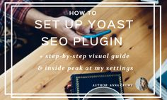 How to Install and Set Up the Yoast SEO Plugin in WordPress: A step-by-step visual guide of which settings to use for better Search Engine Optimization We all know how important proper SEO is, but things like meta descriptions and keywords can get confusing. The Yoast SEO plugin makes WordPress SEO easy so you can improve your search rankings in Google.