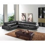 Italia Designs Oshkosh Black Leather Sectional Sofa  SPECIAL PRICE: $2,399.00