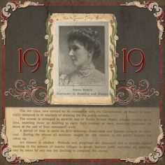 Aimee Baker, 1919...a simple design really makes your photo stand out. Great journaling.