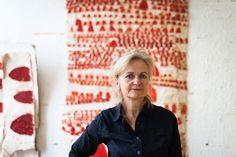 Freunde von Freunden - The Art of Change: Sati Zech Tämän taiteilijan taustalla oleva luomus on upea. Inspiraatiaatiota DIY-tekstiiliin.