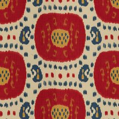 "Brunschwig and Fils ""Samarkand"" Fabric Drapery Panels"