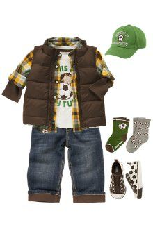 Gymboree soccer boy outfit. We're all about soccer!