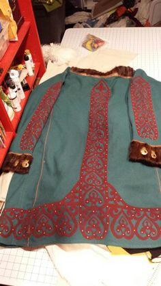 Scythian coat  for Vik back. Based on 450 BC Pazyryk/Altai finds.