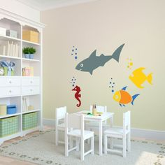 Kids Room: Modest Wooden Computer Desk Mixed With Vintage Railing Chair Under Love Bird Wall Decal: