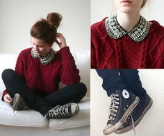 I love the relaxed look of the sweater with the converse