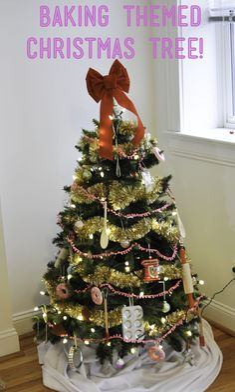 #DIY #baking themed #Christmas tree on www.darciebakes.com!